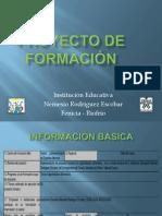 PRESENTACION PROYECTO DE FORMACIÓN