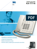 Redes Telefono Unilinea Analogico Panasonic KX-T7716X www.logantech.com.mx Mérida, Yuc.