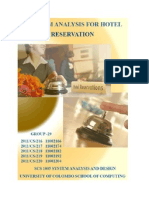Hotel Reservation System Analysis and design
