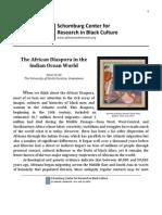 The African Diaspora in the Indian Ocean World Ali Essay