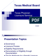 Texas Physician Li Censure Seminar