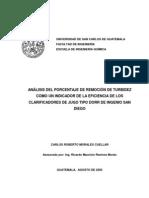 ESTUDIO DE LA DOSIFICACION DE FLOCULANTE EN UN CLARIFICADOR