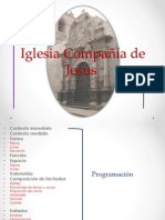 Iglesia Compañía de Jesús analisis arquitectónico
