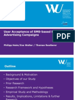 User Acceptance of SMS-Based Mobile Advertising Campaigns