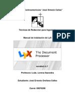 manual Para descargar el programa instalador de LyX versión 1