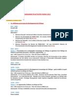 Programme FEDDA 2012