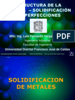 Solidificacion y Defectos