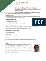 SvasthaYogaTherapyProgram Contents