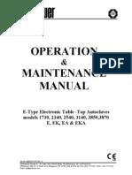 Manual Autoclave 2540e