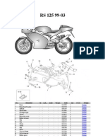 Aprilia RS 125 Despiece Taller Piezas Parts Manual ( Absolutamente Todas Las Piezas Dibujadas Con Referencias )(1)