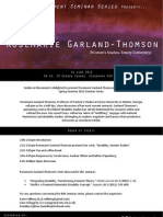 Rosemarie Garland-Thomson Seminar