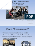 "Dissecting the Medical Drama ""Grey's Anatomy"""