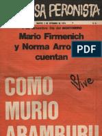 La causa Peronista. Revista Nº 9. Año 1, martes 3 de septiembre de 1974.