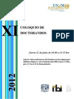 Programa XI Coloquio de Doctorandos 2012