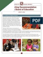 Kingston School District Reconfiguration Plan