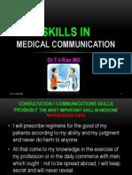 Skills in Medical Communication