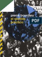 Pierre Bourdieu. El sentido práctico.