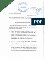 First Affidavit of Steve Cimalore - Sealed