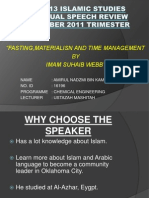 Fah 0013 Islamic Studies Presentation
