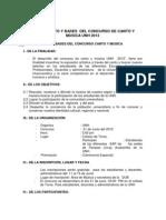 Bases Concurso Canto Musica UNH 2012 - XXII ANIVERSARIO