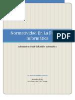 Normatividad de La Funcion Informatica