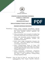 UU Zakat 23 Tahun 2011