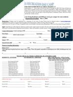 2009 Ewing Day Camp Registration Form