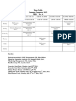 Time Table MBA I