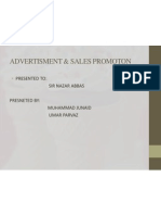 Advertisment & Sales Promoton