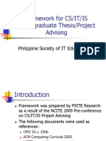Thesis and Project Framework