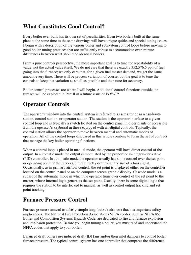 Boiler Tuning 1 | Boiler | Control System