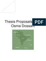 Dossani Osma ThesisProposal