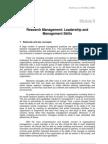 Research Management - Leadership & Management Skills
