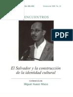 Miguel Huezo Mixco Identidad Cultural Salvadoreña