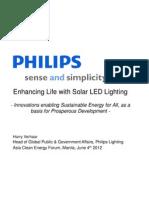 Harry Verhaar - Enhancing Life With Solar LED Lighting