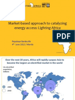 Pepukaye Bardouille - Market-Based Approach to Catalyzing Energy Access Lighti