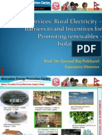 Govind Pokharel - Energy Services Rural Electricity