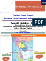 Twarath Subtabutr - Green Islands Renewable Energy Investment on Remote Islands