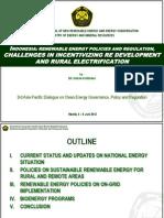 Dadan Kusdiana - Indonesia Renewable Energy Policies and Regulations