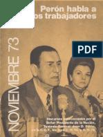 Perón, Juan. Discursos Nº 8 . Editorial Codex, 1974.
