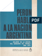 Perón, Juan. Discursos Nº 10 . Editorial Codex, 1974.