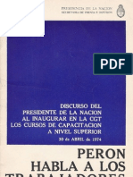 Perón, Juan. Discursos Nº 12 . Editorial Codex, 1974.