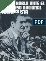 Perón, Juan. Discursos Nº 17 . Editorial Codex, 1974.