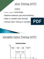 Variable Valve Timing (VVT)