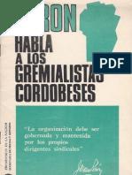 Perón, Juan. Discursos Nº 15 . Editorial Codex, 1974.