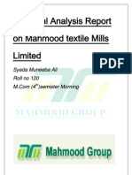 Financial Analysis Report on Mehmood Textile Mills Limited