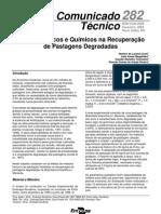 Métodos Físicos e Químicos na Recuperação de Pastagens