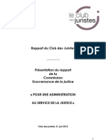Commission Cadiet - le Rapport