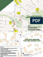 Parodos gatvės rekonstrukcijos eismo schema