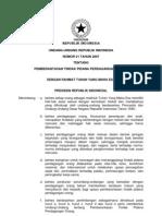 Uu 21 2007 Pemberantasan Tindak Pidana Perdagangan Orang